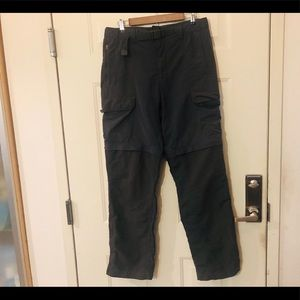 North Face Mens Gray Convertible Pants Shorts M